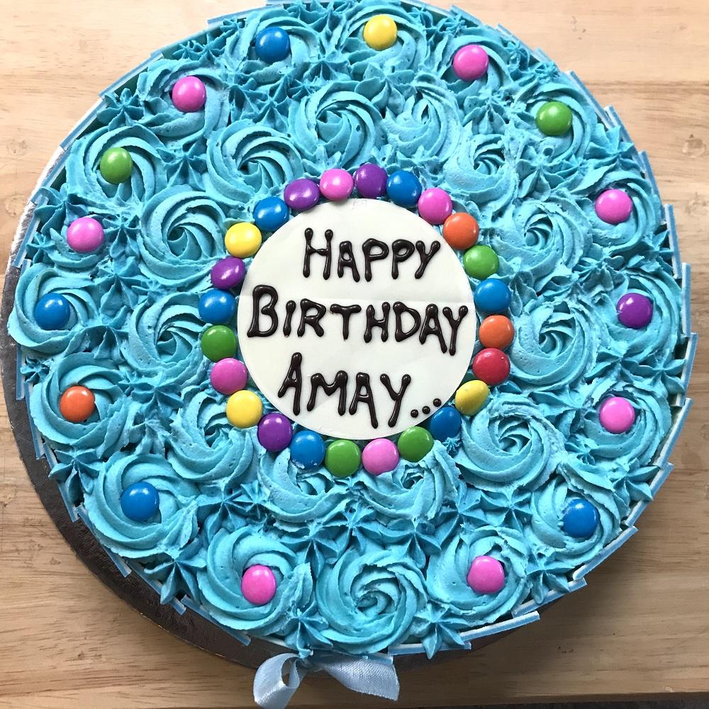 Fabulous Blue Gems Cake Addicted Personalised Birthday Cards Veneteletsinfo