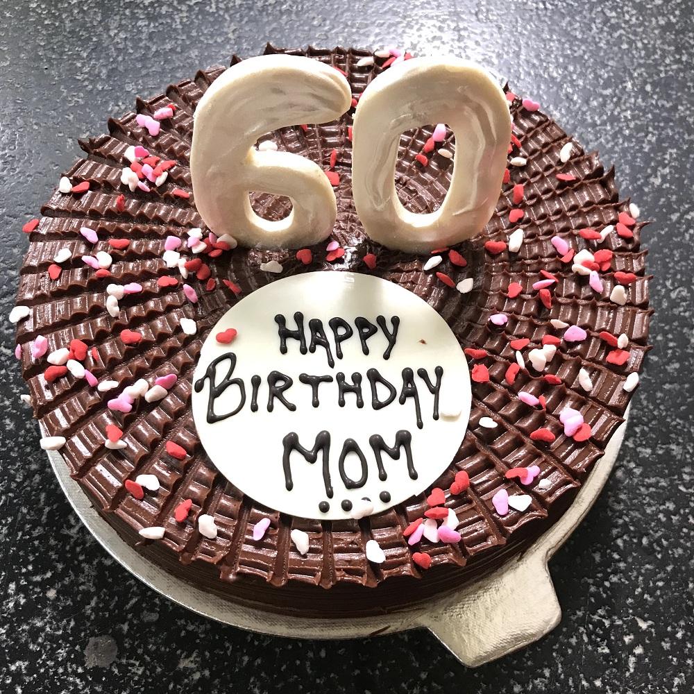 Pleasant Chocolate Ganache Number Cake Addicted Personalised Birthday Cards Vishlily Jamesorg