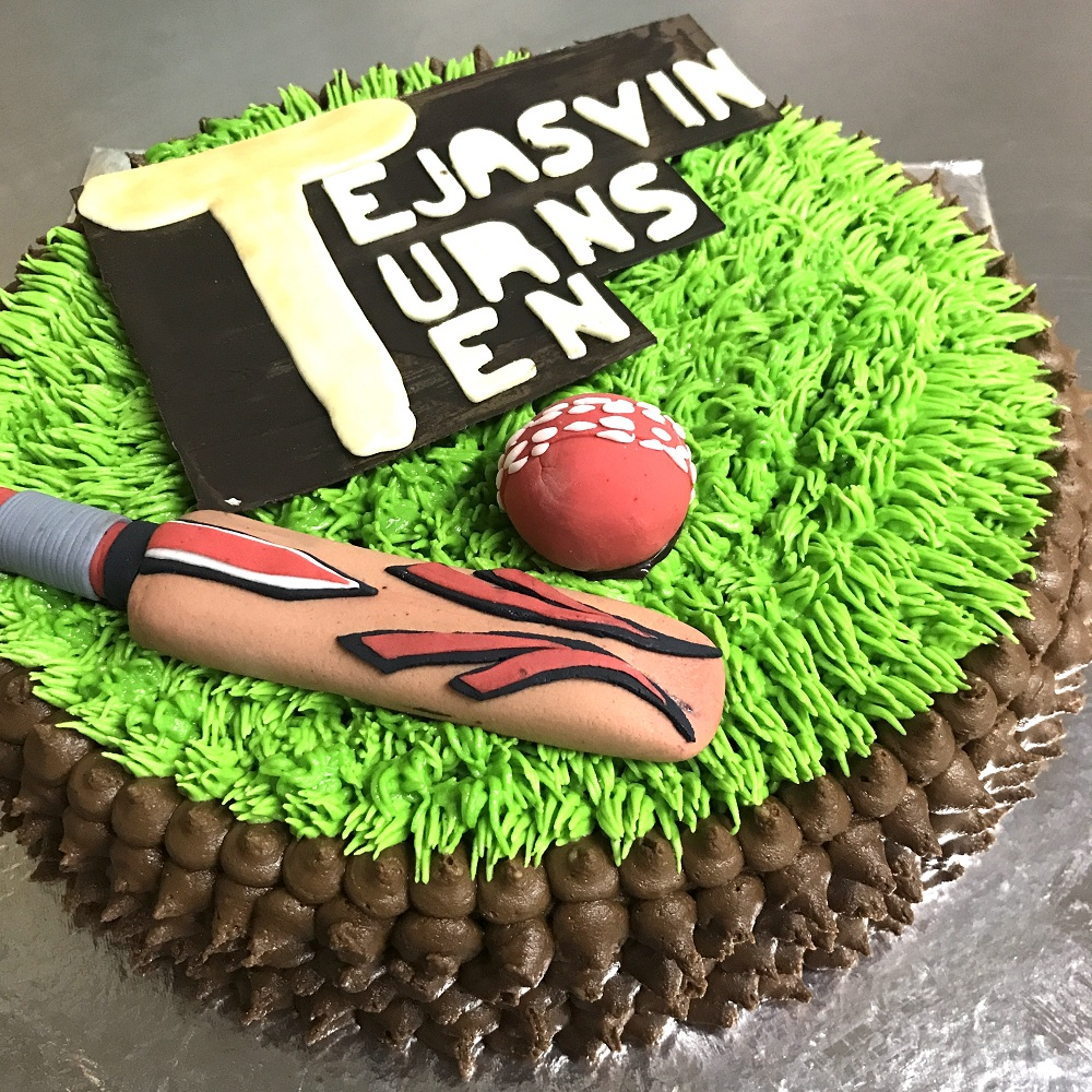 Magnificent Cricket Bat Ball Cake Addicted Personalised Birthday Cards Veneteletsinfo